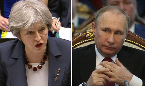 Russia's top diplomats EXPELLED from UK as Theresa May turns up heat on Vladimir Putin