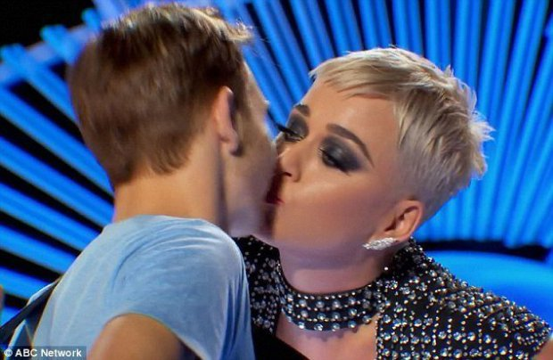 Katy Perry Faces Backlash For Kissing Man on 'American Idol'