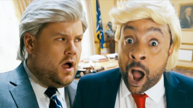 James Corden and Shaggy Spoof Trump, Mueller Probe With It Wasnt Me Music Video