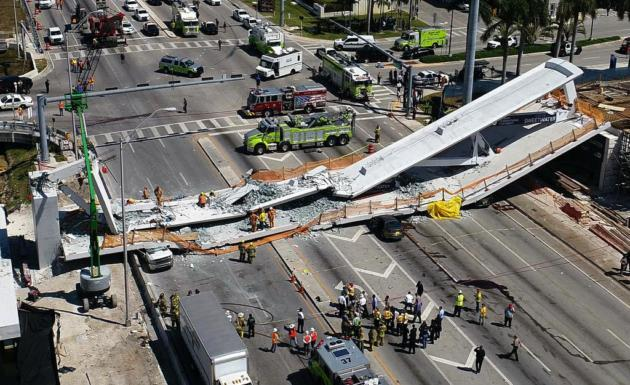 Miami bridge collapse: engineers answerphone message about crack not heard