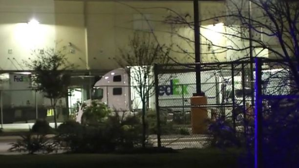 Device explodes in FedEx building outside San Antonio, police say