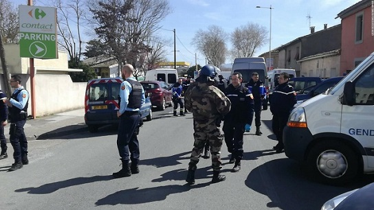 French officer who offered himself for hostage in supermarket attack dies