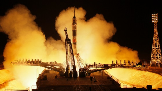 2 Americans, 1 Russian dock with International Space Station