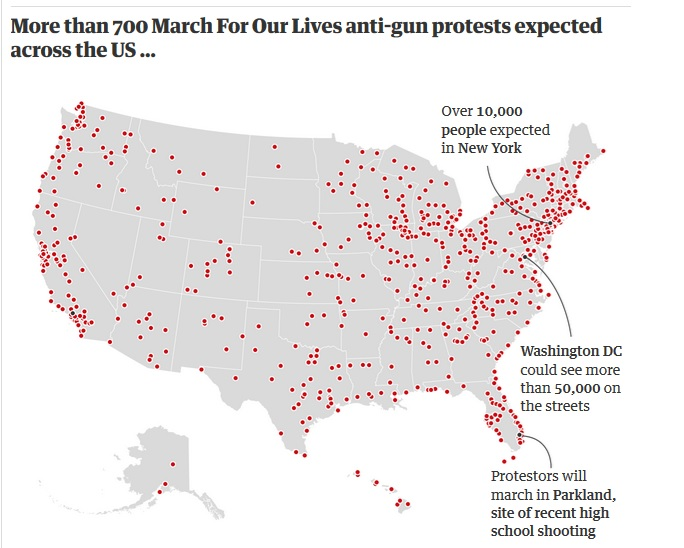March for our Lives protests planned for 800 places across the world