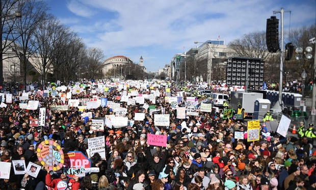 March for Our Lives: hundreds of thousands demand end to gun violence