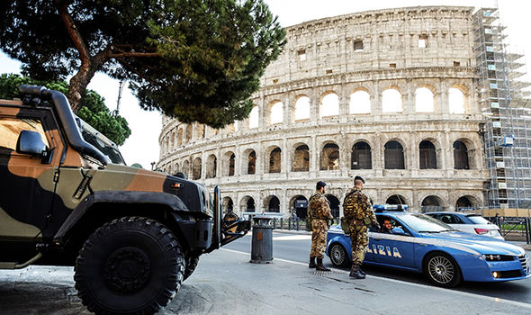Rome terror fears: Bomb alert hours after military launch terrorist manhunt in capital