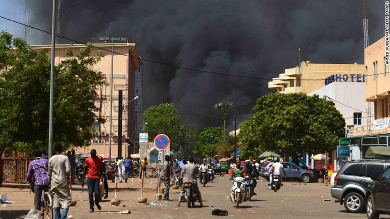 French embassy under attack in Burkina Fasos capital