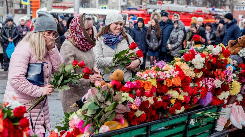 Children among 64 dead in Russia shopping center fire