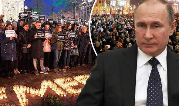 Putin to stand down? Russian citizens take to Moscow streets BEGGING for Putin to RESIGN