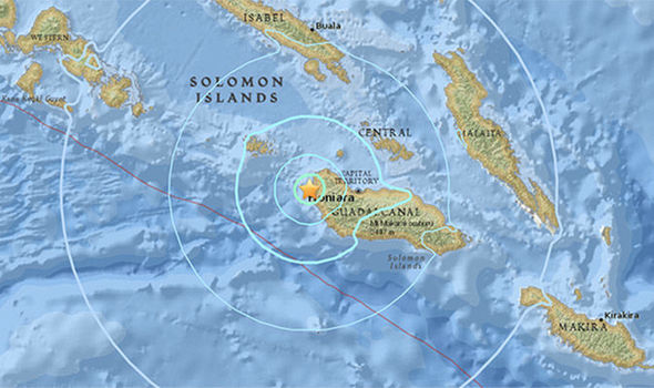 5.8 magnitude earthquake ROCKS Solomon Islands - Pacific Ring of Fire on alert