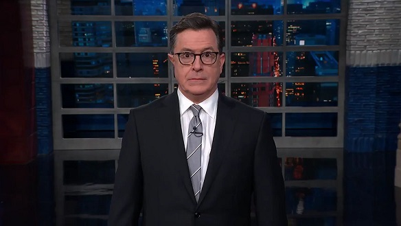 Confused Stephen Colbert on Trumps Ohio Rally: Roseanne Is About the Trumps?
