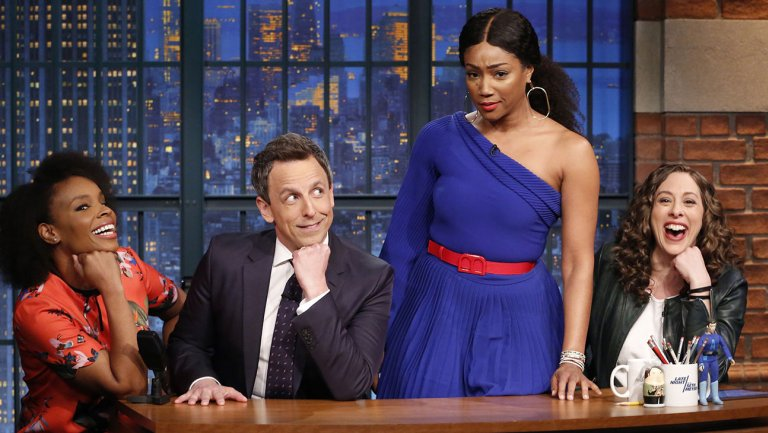 Tiffany Haddish Helps Seth Meyers With Jokes Seth Cant Tell