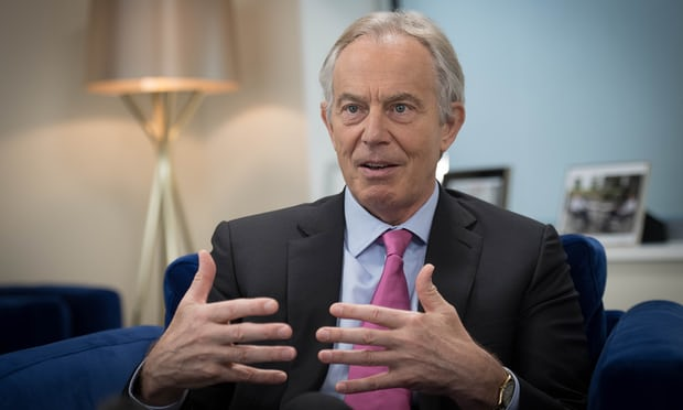 Tony Blair calls for new leadership from 'strong progressive centre'