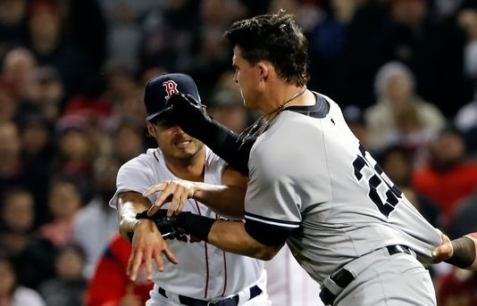 Red Sox-Yankees brawl: Benches clear after Joe Kelly hits Tyler Austin