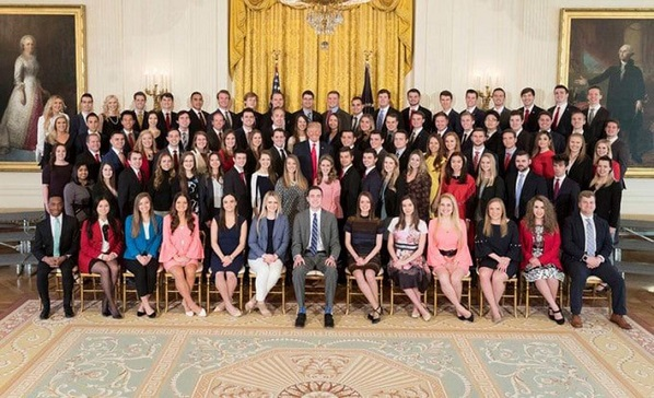 As the White House releases a photo of its interns, the internet asks: Why so few people of colour?