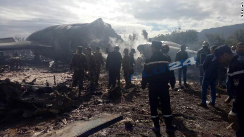 Military plane crashes in Algeria killing 257 people