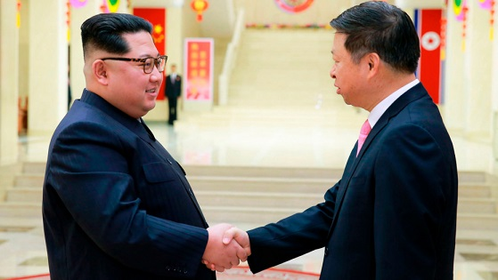Kim Jong Un meets high-ranking Chinese diplomat in Pyongyang