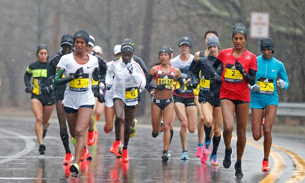 Boston Marathon drenched as heavy storm causes flash floods in New York
