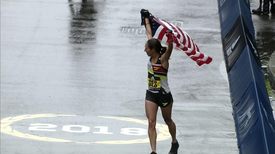 First US winner of Boston Marathon since 85