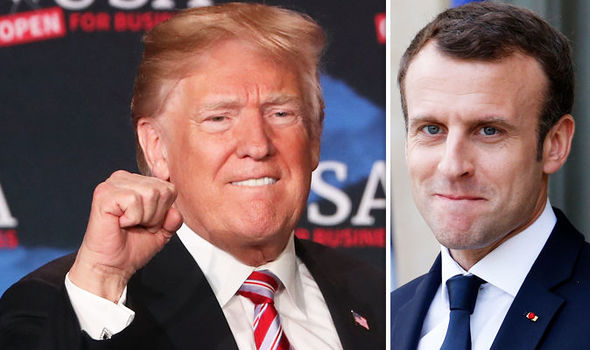 Emmanuel Macron SLAPPED DOWN by Donald Trump over claims he changed US policy in Syria