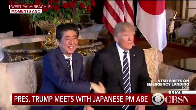 President Trump meets with Japans prime minister