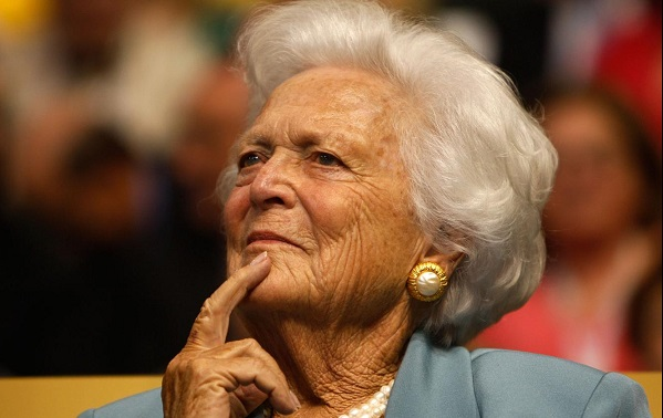 Barbara Bush, former US first lady, dies at 92