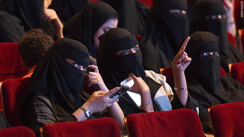 Saudi Arabia ending a 35-year ban on movie theaters with Black Panther screening