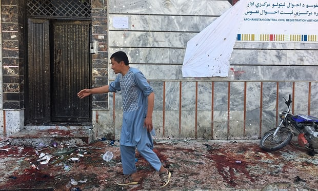 Dozens dead in bombing at Kabul voter registration centre
