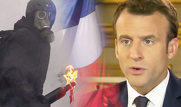 WATCH: Macron STRUGGLES to explain support collapse as riots PLUNGE France into chaos