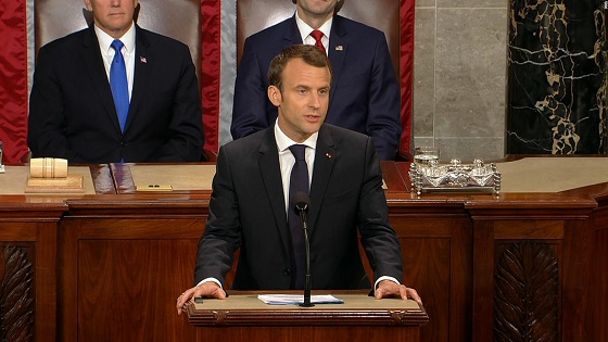 After the hugs and kisses, Macron rips Trumpism