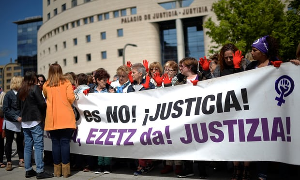 Protests in Spain as five men cleared of teenagers gang rape