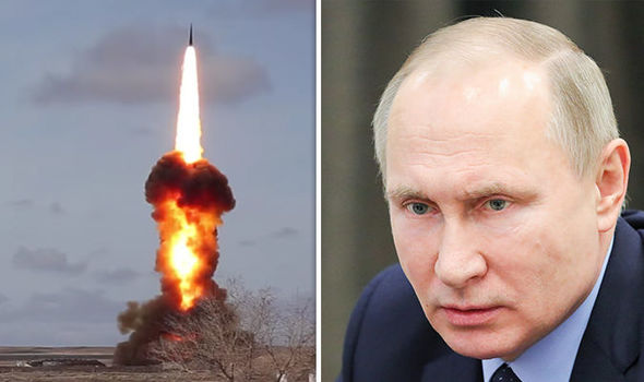 Putin SHOWS OFF new weapon to stop NUCLEAR ATTACK on Russia in wake of tensions with West