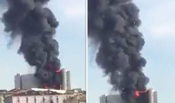 Istanbul hospital fire: SHOCKING footage shows HUGE fire engulf hospital building