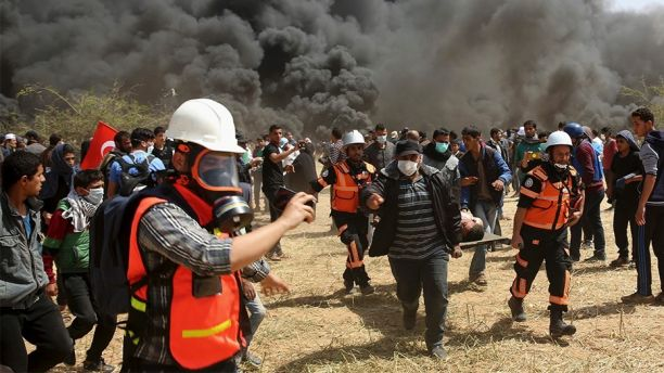 Israeli troops kill 6 as Gaza border protest erupts