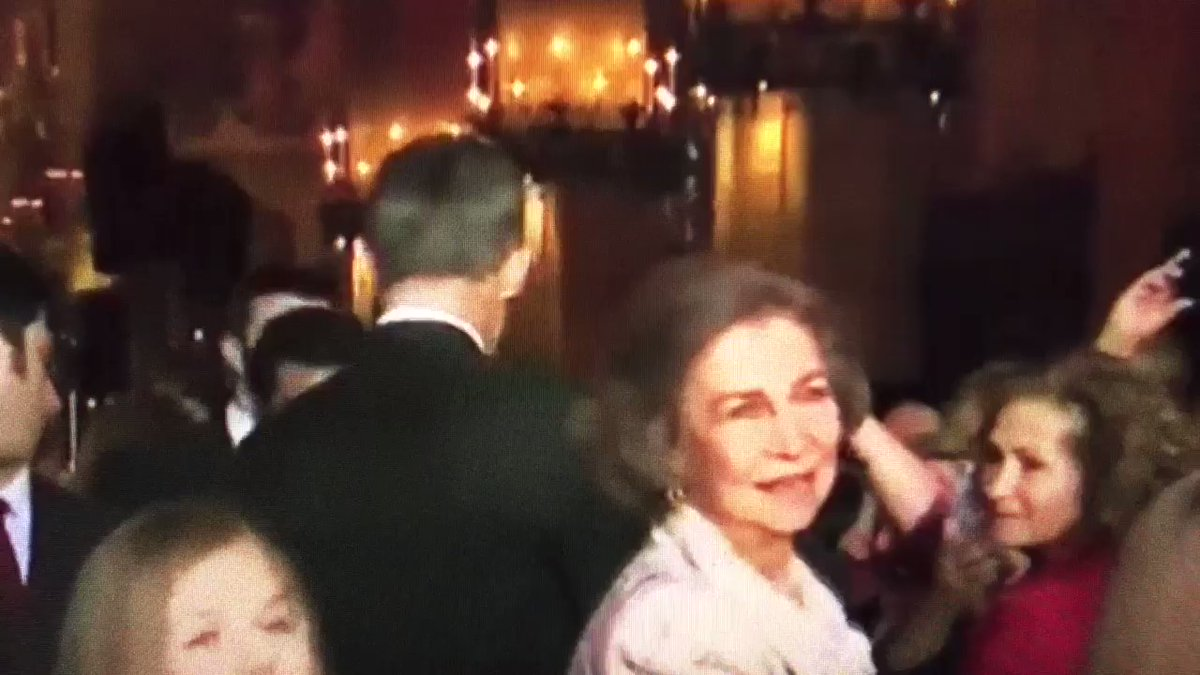 An 'uncomfortable' exchange between Spain's Queen Letizia and Queen Sofia was caught on video. And the country is aghast