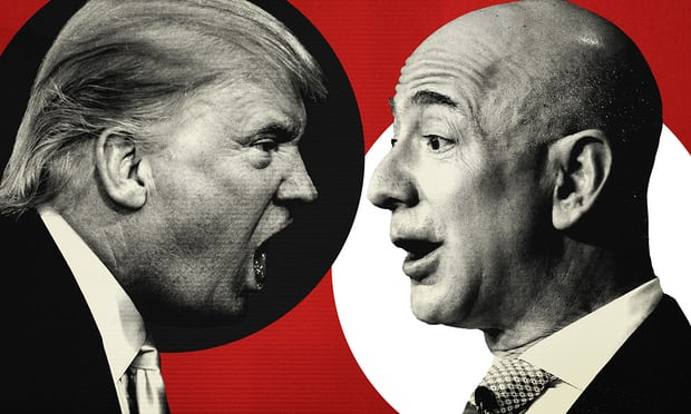 What is the Donald Trump v Jeff Bezos feud really about?