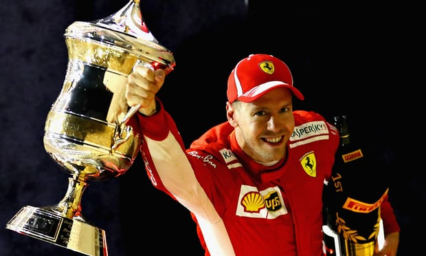 Sebastian Vettel wins in Bahrain after Kimi Raikkonen runs over mechanic