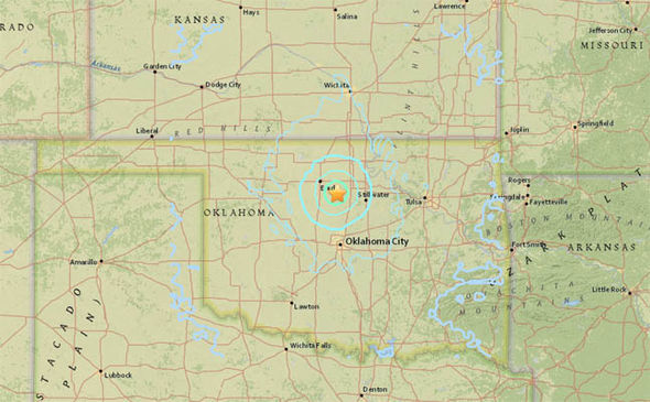 Earthquake Hits Today Map Oklahoma Nebraska And Los Angeles Hit By