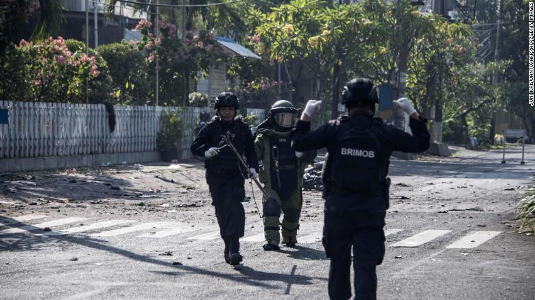 At least 10 killed in Indonesia church attacks