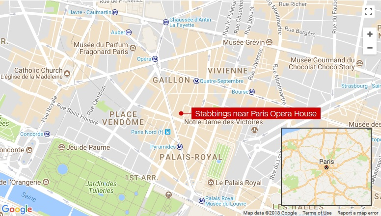 Attacker yells Allahu Akbar, stabs five in Paris before police take him down