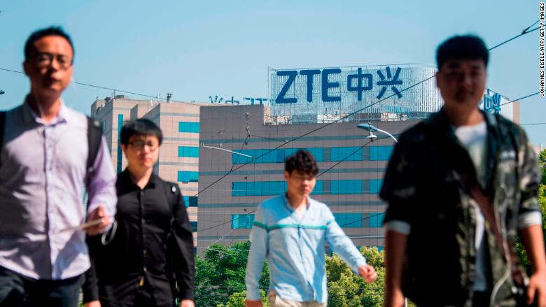 Trump says US working with China to save ZTE