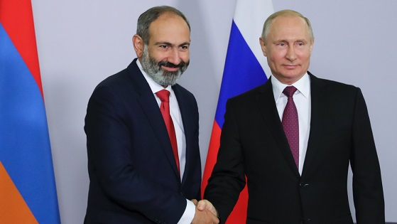 Armenias new PM meets with Russias Putin for the 1st time
