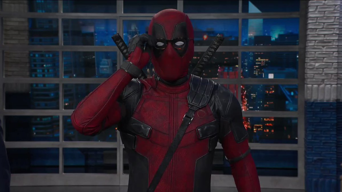 Deadpool Crashes Colberts Late Show Monologue