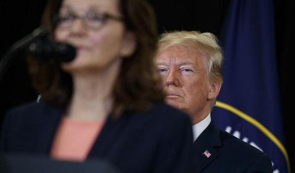 Trump praises new CIA director, Gina Haspel