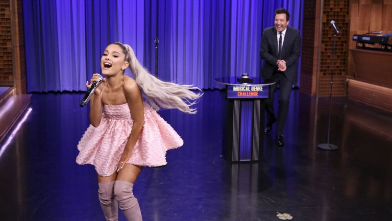 Ariana Grande Takes Over The Tonight Show, Announces New Album
