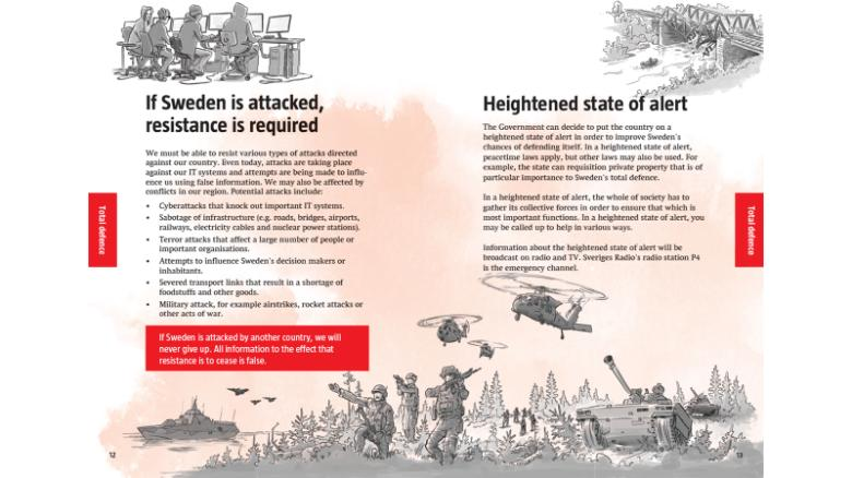 Sweden to send war pamphlet to 4.8 million households
