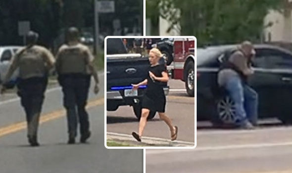 Active shooter in Panama City, Florida - BOMB SQUAD scrambled and flash grenade thrown