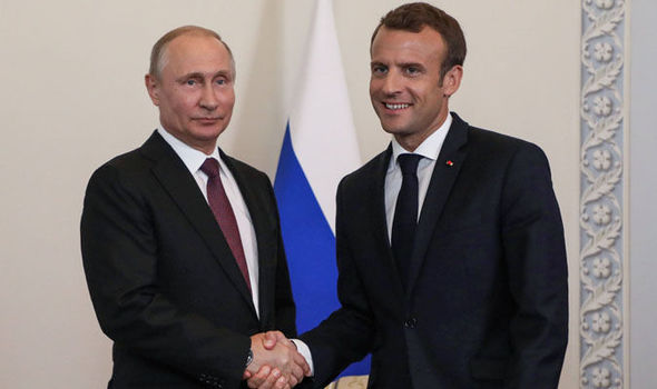 'There will be CONSEQUENCES' Macron meets Putin to salvage Iran deal after US quits pact