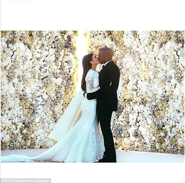 Kim Kardashian shares never-seen-before photo from wedding to Kanye West to mark four-year anniversary