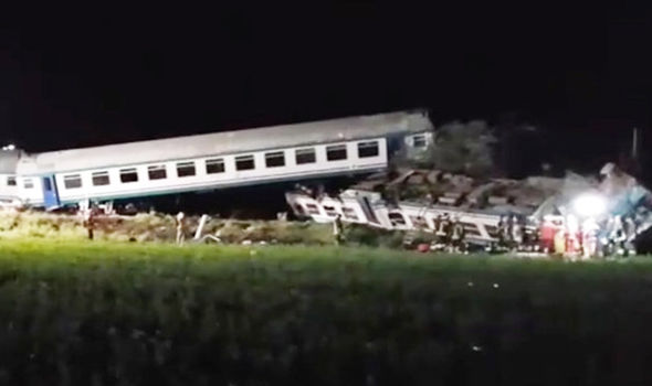 Italy rail crash HORROR as train PLOUGHS into truck stuck on tracks - at least two dead